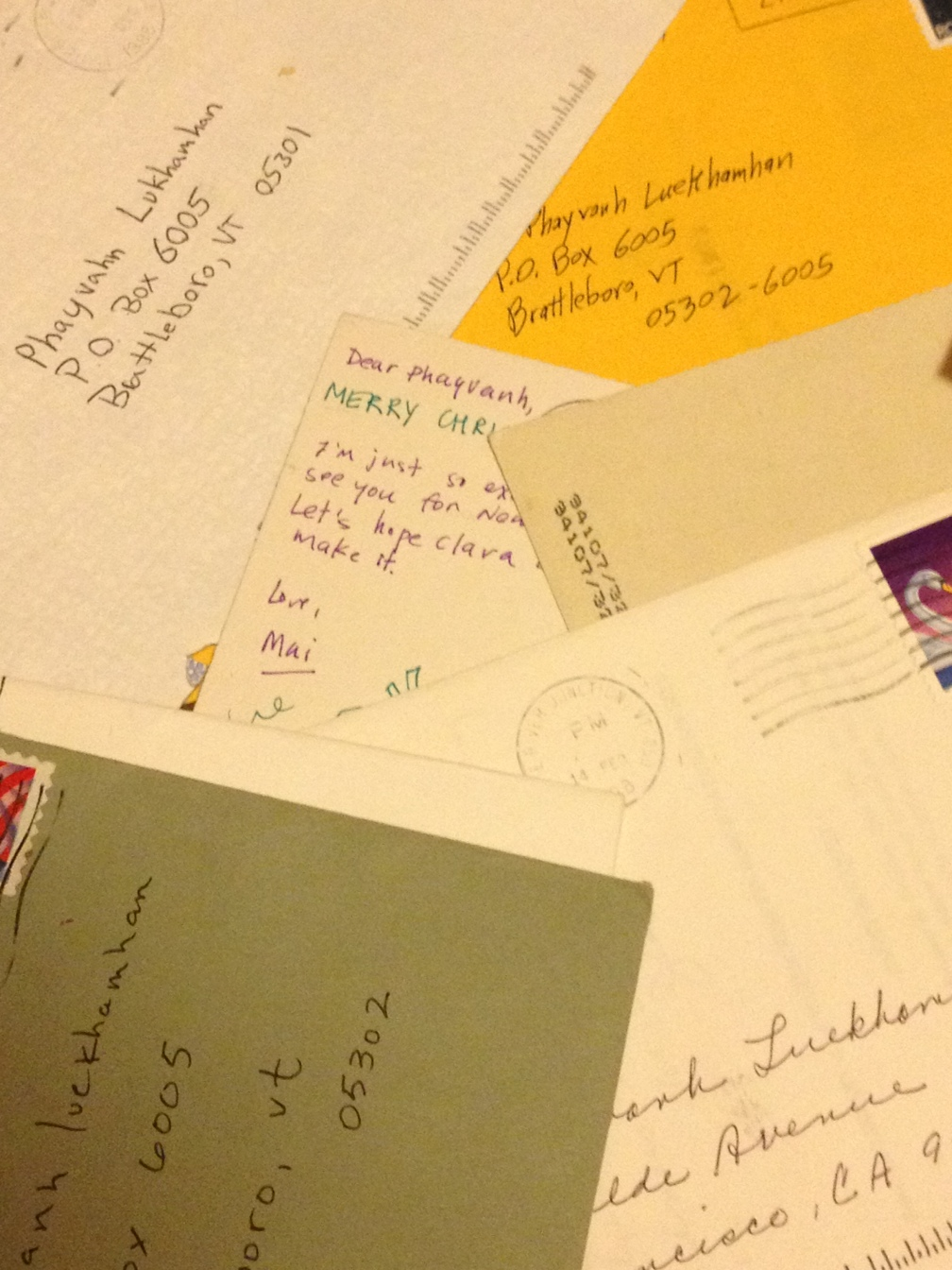 I used to write and receive many letters