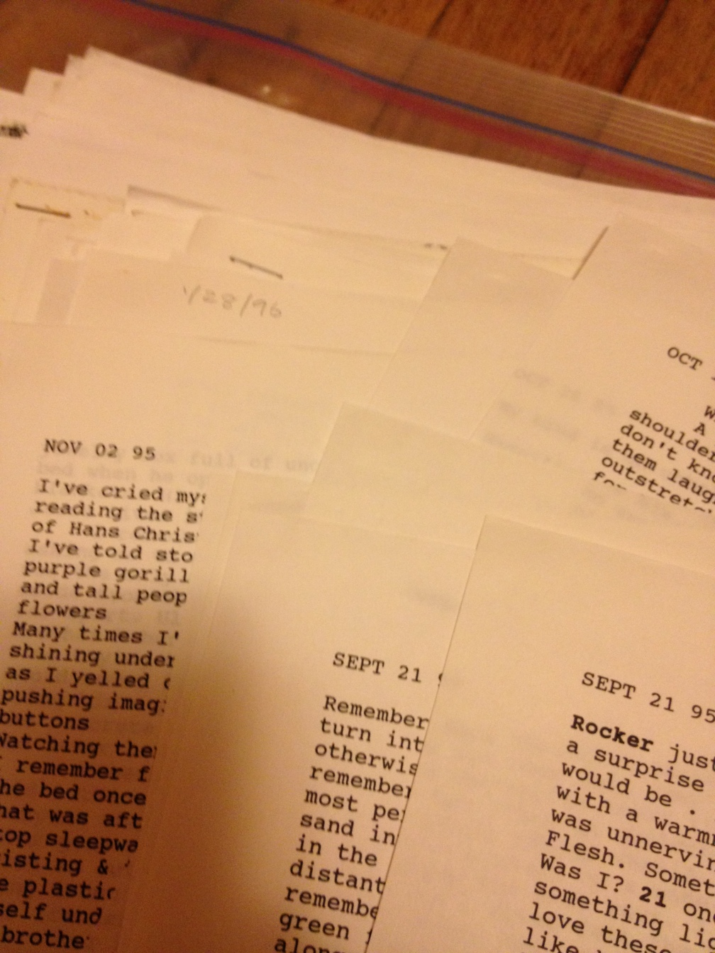My old drafts, yellowing away in a box