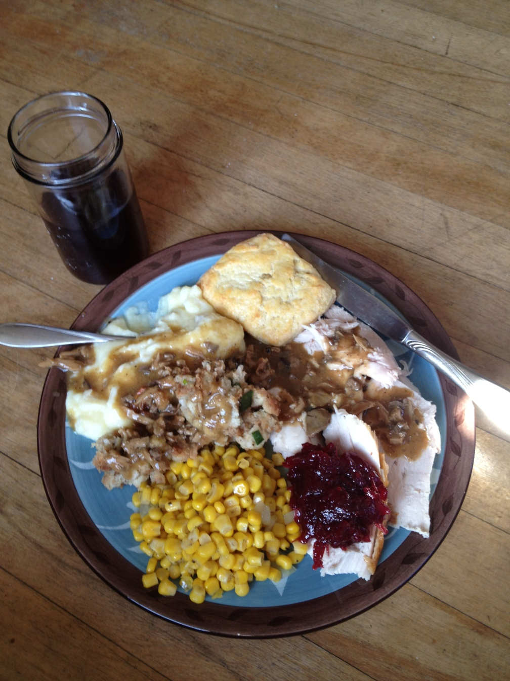 Last year's Thanksgiving plate.
