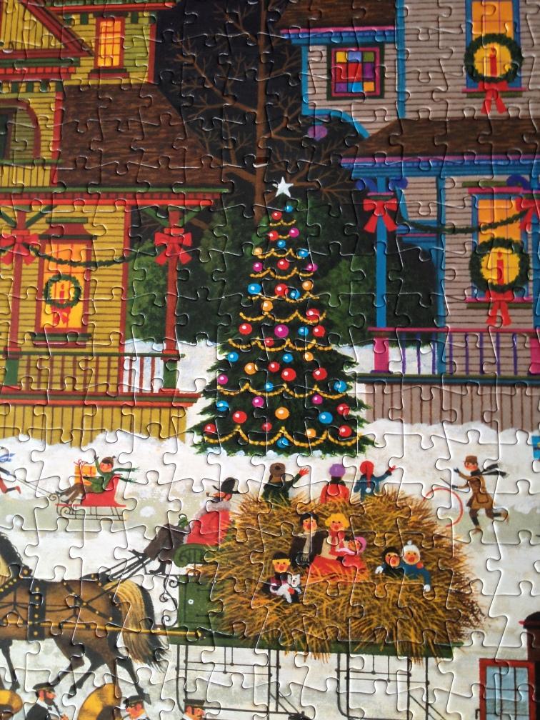 """Victorian Christmas"" by Charles Wysocki (detail)"
