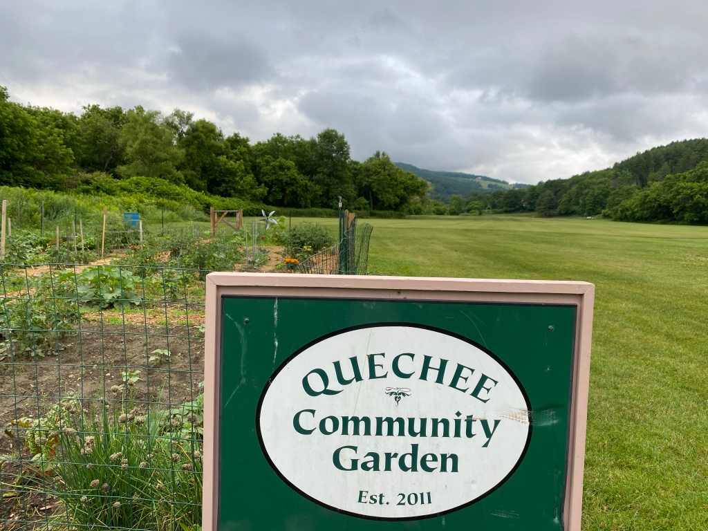 Community garden at the front of the town green